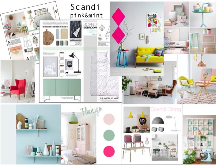 estilo escandinavo pink&mint