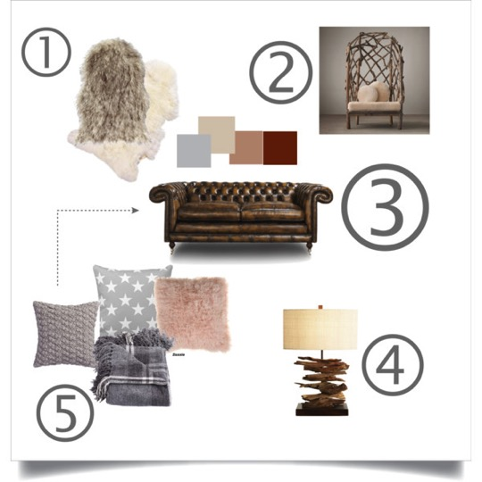 mood board country chic