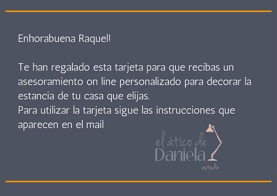 Tarjeta regalo Raquel Ripoll Betriu